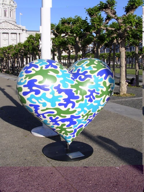 Public Sculptures by Kara Maria seen at Hearts in San Francisco, San Francisco - Global Heart