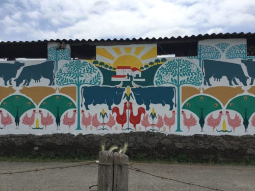 Murals by Ana Santiso seen at Private Residence - A Casa da Fonte
