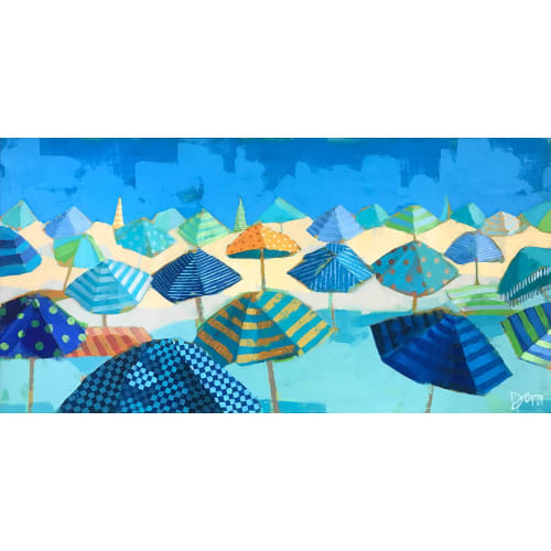 Paintings by Dora Knuteson seen at Private Residence, Naples - Beach Blues