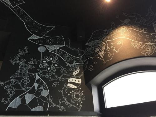 Murals by Yoshi Sislay seen at Rosa-Luxemburg-Straße, Berlin - ribbons