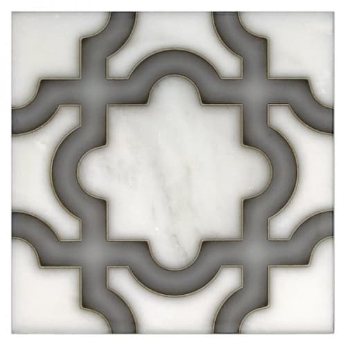 "Tiles by StoneImpressions seen at Private Residence, Denver - ""Karia"" Artisan Stone Tile"
