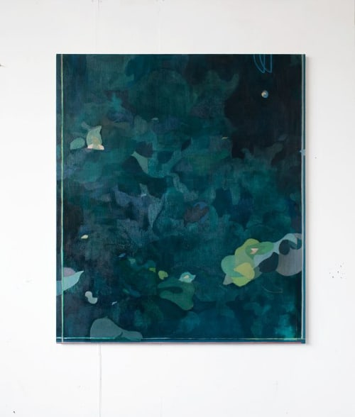 Paintings by Tristan Barlow seen at Bingham Riverhouse, Richmond - Primavera II