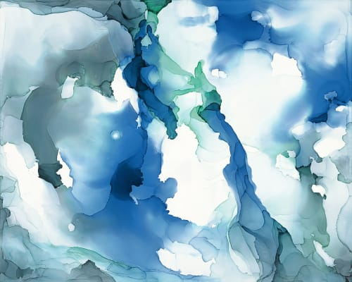 """Blue Abyss"" Canvas Print   Paintings by Julie Pelaez Studios"