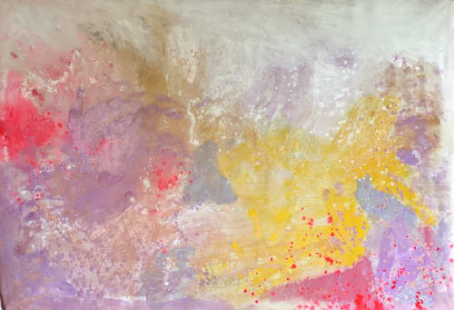 Paintings by Kathleen Rhee seen at Gold Coast, Gold Coast - Yellow and Pink: Big Love Series