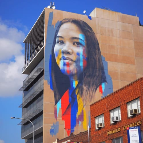 Street Murals by Claire Foxton seen at 269 Bigge St, Liverpool - Adi Holmes