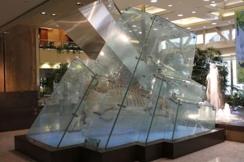Public Art by Rick L. Silas seen at Sun Life Plaza, Calgary - Shelter From the Storm