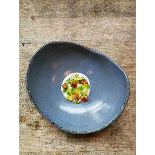 Ceramic Plates by Jason Gordon Holley seen at Raymonds Restaurant, St. John's - Ceramic Plate