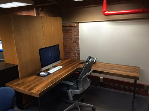 Tables by Urban Wood Goods seen at Boston, Boston - Reclaimed Wood L Desk