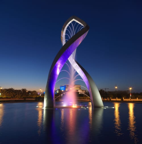 Public Sculptures by Giles Rayner seen at Royal Opera House Muscat, Muscat - Arches Sculpture