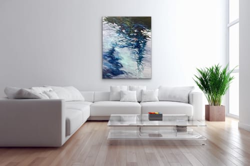 "Paintings by Cathy Boyd seen at Private Residence, Midland - ""The World Just Slips Away"", original painting 60 x 48"