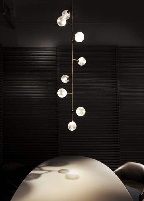 Chandeliers by Lumifer by Javier Robles seen at New York, New York - Helix Vertical Pendant