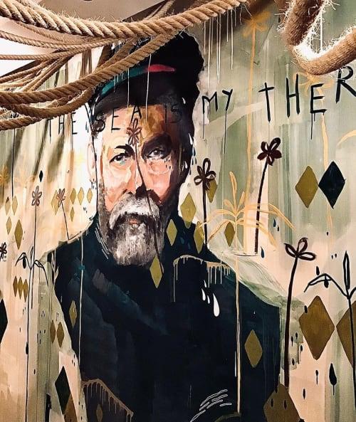 Murals by Bruno Marchetto seen at Selina Peniche, Peniche - Therapy Mural