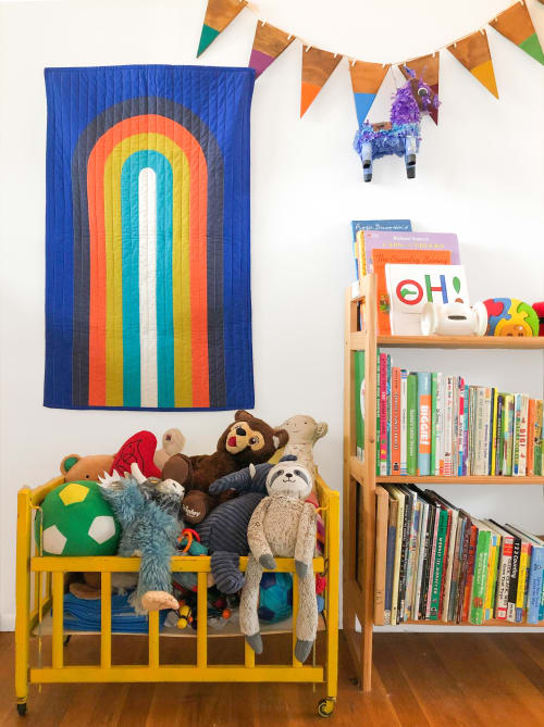Wall Hangings by Studio Prismatic seen at Creator's Studio, Portland - Rainbow Days Quilted Wall Hanging in Organic Cotton
