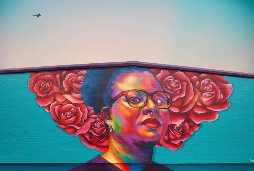 Street Murals by Detour seen at Jackson, Jackson - The nurse