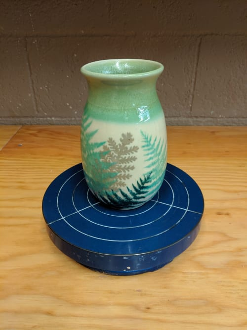 Vases & Vessels by Megelise Handmade Pottery seen at Private Residence, Belfair - Custom PNW Vase