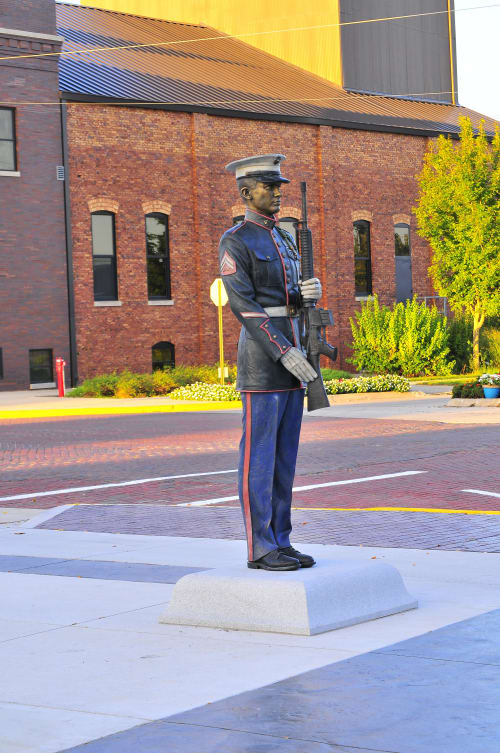 Public Sculptures by Sutton Betti seen at West Point, West Point - Present Arms, US Marine