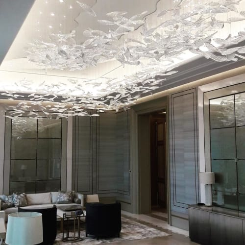 Sculptures by Clartés Bohemia at Private Residence, Kuwait City - Wave