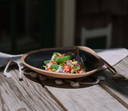 Tableware by Earth + Element seen at Paramount Ranch, Agoura Hills - Rustic Shape Bowl / Matte Black