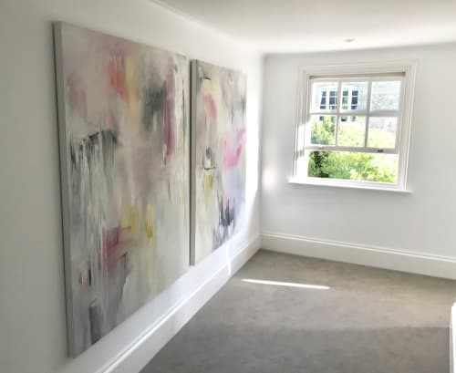 Paintings by Oliver Hilton seen at Private Residence, Hemingford, Hemingford Grey - Abstract Paintings