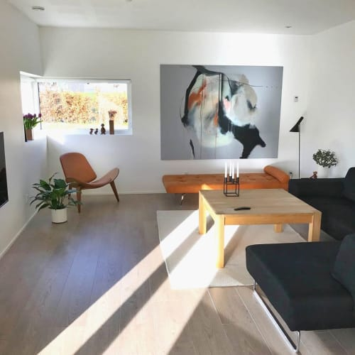 Paintings by Rikke Ryge seen at Private Residence, Silkeborg - Abstract Painting