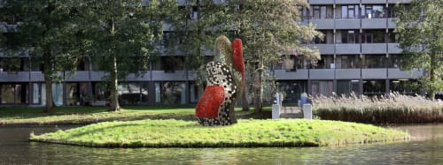 Public Sculptures by Peter Vial seen at Amsterdam-Zuidoost, Amsterdam - Artist impressions