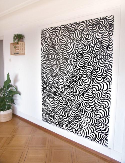 Murals by Stillo Noir seen at Private Residence, Lausanne - Le Dépanneur Salon: Live Mural Drawing