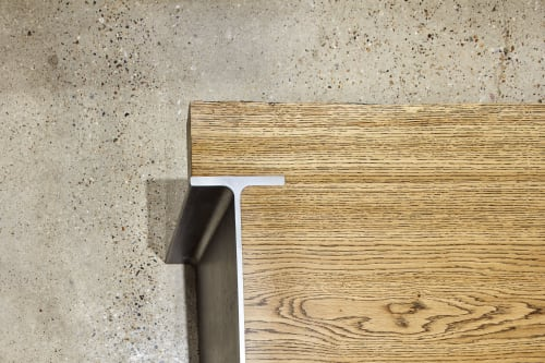 Tables by Stanley Joinery seen at Shoreditch, London - I-beam Coffee Table