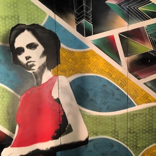 Murals by Max Ehrman (Eon75) seen at Oakland First Fridays, Oakland - First Oakland Friday Mural