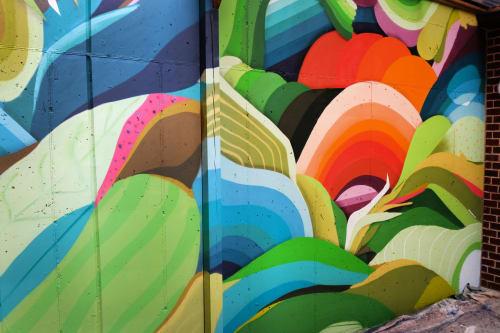 Street Murals by Nathan Brown seen at Nashville, Nashville - West End Village mural