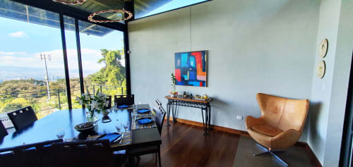 Paintings by Mod Cardenas seen at Private Residence - Original painting in private collection, collectors home