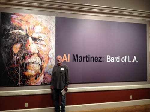 Paintings by An Artist Life seen at 1151 Oxford Rd, San Marino - Pulitzer Prize – winning journalist All Martinez exhibition Huntington Library