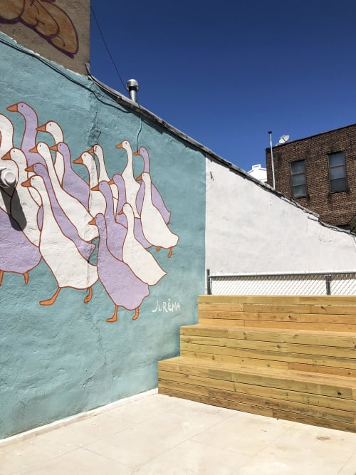 Street Murals by Jurèma seen at Gertie, Brooklyn - Gertie