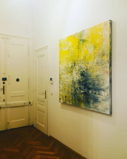 Paintings by Erzsebet Nagy Saar seen at Private Residence, Vienna - Abstract Painting