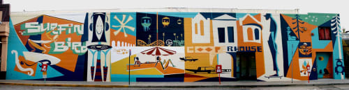 Murals by Brian Barneclo seen at Santa Cruz Area, Santa Cruz - Surfin' Bird