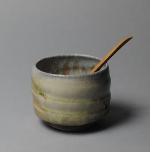 Tableware by John McCoy Pottery seen at Private Residence, Chicago - Salt Cellar with Spoon
