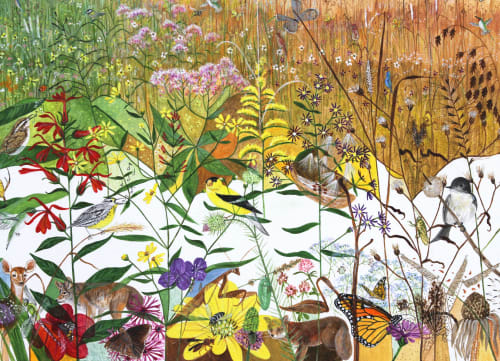 Murals by Trena McNabb seen at Dayton Children's Hospital, Dayton - The Meadow