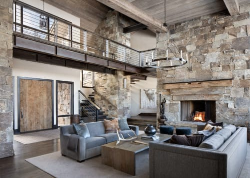 Architecture by Centre Sky Architecture, LTD seen at Private Residence, Big Sky - Freddie Mo, Private Residence