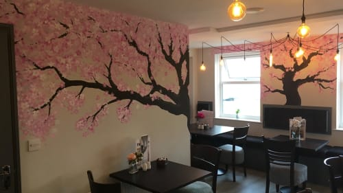 Cherry Blossom Mural   Murals by Leeroy ( Custom Artwerk )   Humbles in Seaham