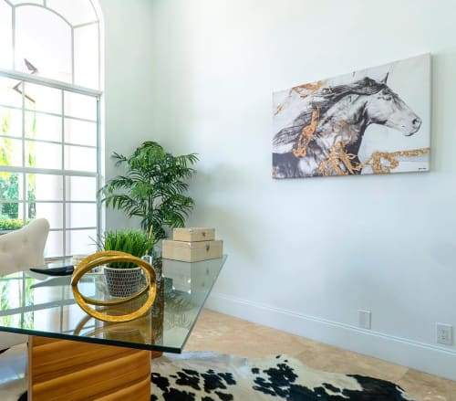 Paintings by The Oliver Gal Artist Co. seen at Private Residence, Los Angeles - Horse