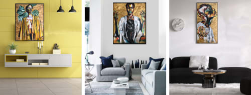 Afrocentric Keyy - Paintings and Art