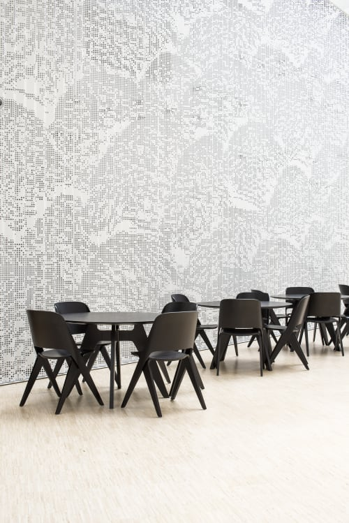 Chairs by Poiat Studio seen at Industrigatan 1, Helsingfors - Lavitta Chair and Lavitta 4-legged Round Table