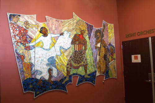 Murals by Cynthia Fisher seen at Lauderhill Performing Arts Center, Lauderhill - Passion to Perform