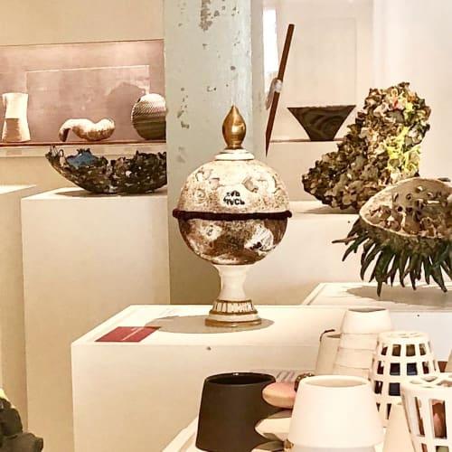 Sculptures by Catharina Goldnau Ceramics seen at Gardiner Museum, Toronto - Keep it Safe