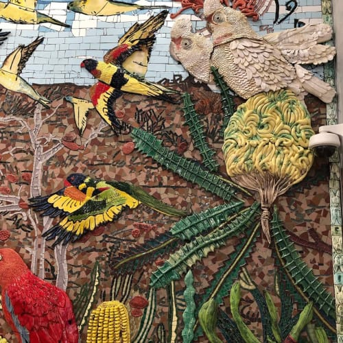 Public Mosaics by Jane du Rand seen at Bondi Junction, Bondi Junction - Mural for the Travel Corporation, Bondi Sydney