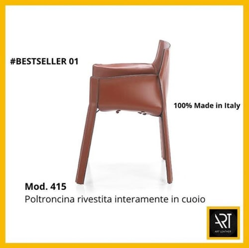 Interior Design by Art Leather S.r.l. seen at Art Leather S.r.l., Margine Coperta-traversagna - Cuoio Armchair art. 415
