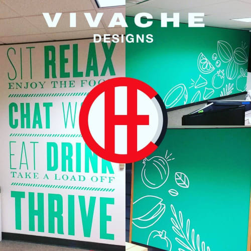 Murals by VIVACHE DESIGNS seen at Thrive Market, Marina del Rey - Branded Murals