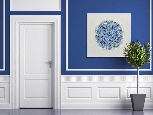 Paintings by Lisa Carney seen at Creator's Studio, Sainte-Anne-des-Plaines - Petal Burst 43, acrylic painting on wood