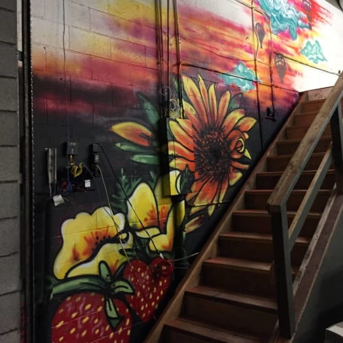 Murals by Love Ponci seen at Third Space Art Collective, Davis - Indoor Mural