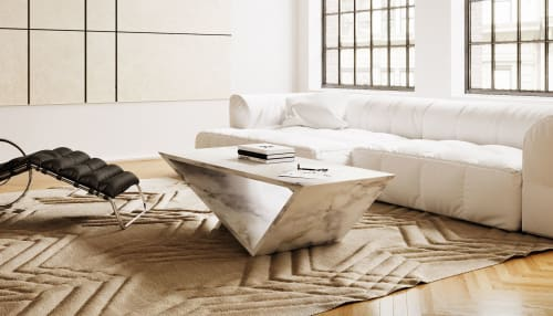 Tables by Neal Aronowitz seen at Private Residence, New York - Time/Space Portal Table - Calacatta Marble