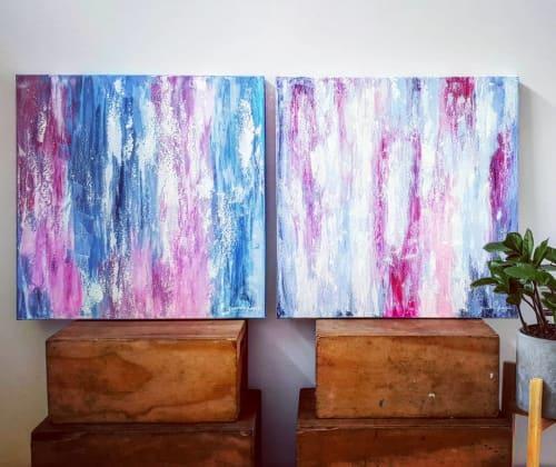 Blooming Garden 1 & 2   Paintings by Jacinta Payne   Imaging Associates Mitcham in Mitcham